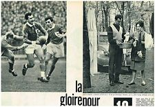 """Coupure de presse Clipping 1960 (4 pages) Rugby Pierre Albaladejo """"Bala"""""""