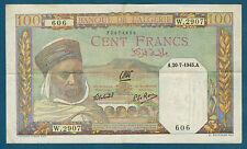 ALGÉRIE - 100 FRANCS Pick n° 85. du 20-7-1945. en TTB   W.2907 606