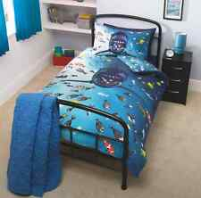 New Boys Girls Shark Single Duvet Cover Set with Matching Pillowcase
