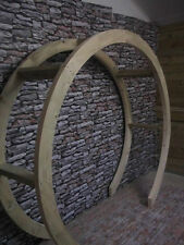 Wooden Garden Circle Arch, Bespoke Rounded Arch