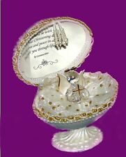 Footprints in the sand poem gift in Unusual egg with crystal glass Angel