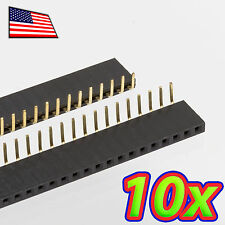 [10x] 1x40 Pin 2.54 mm Right Angle Single Row Female Header Socket - 90 degrees