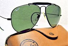 VINTAGE RAY-BAN B&L AVIATOR OUTDOORSMAN I Black Chrome 58 NrMINT SUNGLASSES&CASE