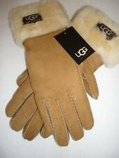 UGG® Australia Chestnut SHEARLING Turn Cuff GLOVES, Medium, NWT,MSRP $175