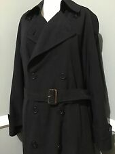 CHRISTIAN DIOR Monsieur  Black , With Removable Wool Lining COAT-TRENCH, s42R /L
