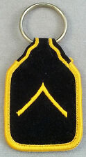 US Army Private E-2 Rank Embroidered Felt Keychain