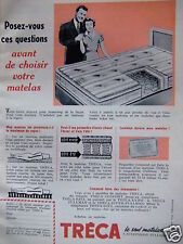 PUBLICITÉ TRÉCA LE SEUL MATELAS A SUSPENSION PULLMAN - ADVERTISING