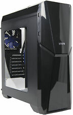 VIVO Athena ATX Mid Tower Computer Gaming PC Case, Window, 4 Fan Mount, USB 3.0