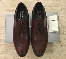 Brand New w Box Antonio Maurizi Leather Apron Split Toe Shoes Brown for Men US 9