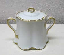 HAVILAND FRANCE      RANSON GOLD      SUGAR BOWL      CRACK