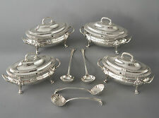Una squisita Set George III argento sauce zuppiere, le SAGE, London 1774