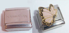 PINK BUTTERFLY 9mm Italian Charm + 1x Genuine Nomination Classic Link N31 JUNE