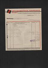 SEIDENBERG O.-L., Rechnung 1930, Seidenberger Tonwerke G.m.b.H.