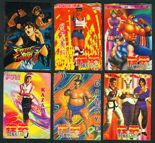 6 STREET FIGHTER II & TEKKEN Philippine TEKS / Trading Cards
