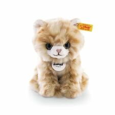 Steiff LIZZY KITTEN EAN 084027 - 6.7 inches Woven Fur Plush Toy Red Tabby Cat