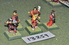 25mm japenese clan wars undead samurai characters 5 figures (13259)