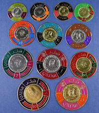Qatar Katar 1966 Münzen Coins Gold Silver Foil Stamps Scheich Siegel 102-113 MNH