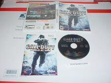 CALL OF DUTY: WORLD AT WAR game complete in case - Nintendo Wii