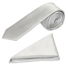 "Men's Satin 2"" Slim Tie and Pocket Handkerchief Set"