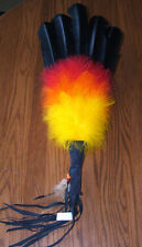Colorful Ceremonial Dance Fan w/ Fancy Feathers Native American Regalia JG05