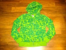 Nice THE NORTH FACE Green FLORAL Full Zip Womens SMALL Hoodie Jacket Sweatshirt