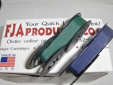 Vintage Portable Manual Royal Typewriter Spool Ribbon Blue and Green Ribbon Pack