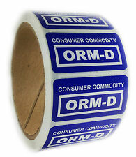 "Glossy Blue ""Consumer Commodity ORM-D"" Labels Stickers - 1"" by 2"" - 500 ct"