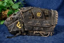 "Black WILSON 12"" Signature Series Fielders Glove Right Handed"