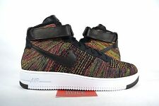 NEW Nike Air Force 1 Ultra Flyknit Mid BLACK MULTI COLOR 817420-002 sz 10.5