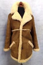 Men's Brown Baily's Texan Rancher Style 100% Genuine Sheepskin Coat 44R JB612