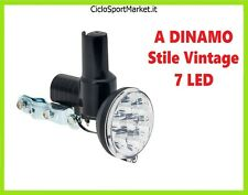 DINAMO CON FANALINO INTEGRATO BICI / 7 LED SUPERLUMINOSI ideale BICICLETTA EPOCA