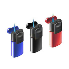 ★ACCENDINO TURBO ANTIVENTO ZENGA SLIDER JET GAS RICARICABILE LIGHTER ZL-5 NERO★
