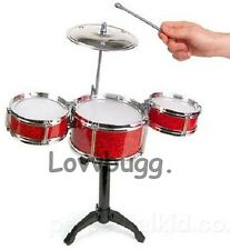 "Trap Drums Set Mini Instrument for 18"" American Girl Doll Accessories Amazing!"