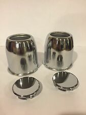 "Push through center caps 3.18"" Chrome Set Of 2 Easy Lube Trailer"