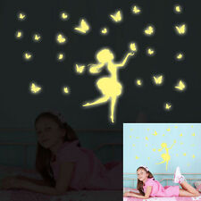 Glow In The Dark Decal Baby  Wall Sticker Home Decor Butterfly Girl Light Green