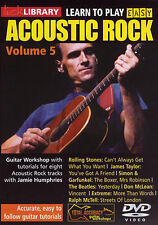 LEARN TO PLAY EASY ACOUSTIC ROCK VOLUME 5  GUITAR LICK LIBRARY DVD  TUITIONAL