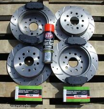 Audi TT S3 Quattro 99-05 Front & Rear Drilled & Grooved Brake Discs + Pads +gift