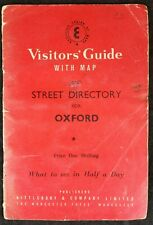 Vintage Visitor's Guide & Street Directory to Oxford With Fold Out Map,  c1960s