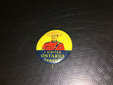 VINTAGE CANADIAN MOUNTY I VISITED ONTARIO PIN