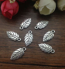 Wholesale 20pcs Tibet silver Tree leaf Charm Pendant beaded Jewelry Findings !!!