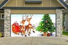 Christmas Garage Door Covers 3D Banners Outside House Decorations Billboard G27