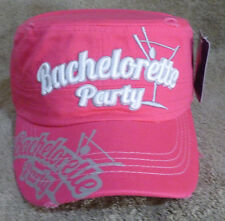 New Cadet Hat Bachelorette Party Martini Glass Pink and White Hip Hop Dope