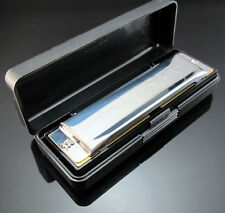 Free New Special Swan Harmonica 10 Holes Key Of A Silver with Case High Quality