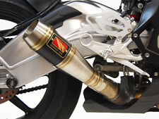 Black Center GP Slip On Exhaust Comp Werkes WB1001-BC for 15-16 BMW S1000RR