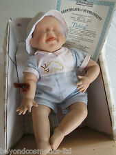 "Ashton Drake Porcelain Baby Doll ""Tickles"" with,Certificate"