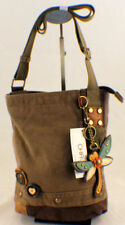 Chala Purse Handbag Canvas Crossbody with Key Chain Tote Bag Dragonfly #903DF7