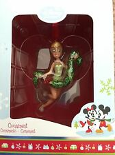 2011 DISNEY STORE TINKERBELL HOLDING A GARLAND ORNAMENT - NEW IN ORIGINAL BOX