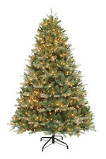 "7.5' x 58"" Balsam Fir Artificial Holiday & Christmas Tree w/Clear Lights & Stand"