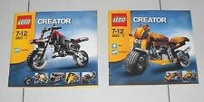 LEGO CREATOR 4893 Rewin' Riders Volume 1 e 2 Instruction Manual Booklet MANUALE