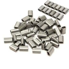 304 acier 50 Câble Pince à Sertir Sertissage Crimp Sleeve Ferrule Pr 1/16'' Wire